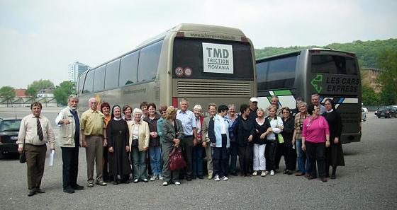 Mit unseren rumänischen Freunden auf dem Bendplatz in  Aachen zum 20-jährigen Jubiläumsfest im Mai 2010